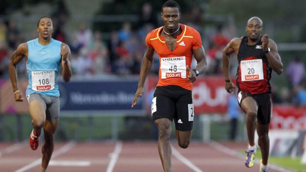 Das 200-Meter-Rennen an der letztjährigen Ausgabe von «Spitzenleichtathletik Luzern»