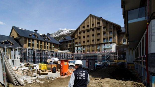 30 Arbeiter traten auf der Baustelle des Hotels Chedi in den Warnstreik.