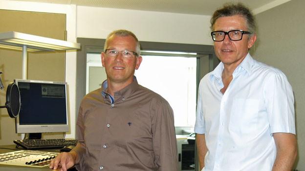 Im Einsatz für die neue Steuerplattform: Erich Kleinhans (links) und Paul Furrer.