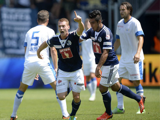 Oliver Bozanic (l.) führte seinen FCL mit 2 Treffern zum Sieg gegen Zürich
