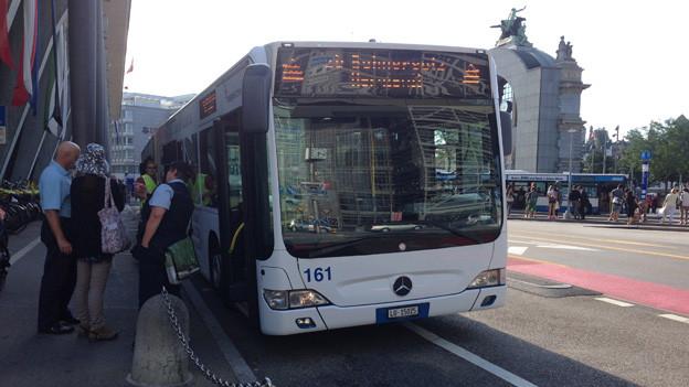 Zwischen Luzern und Hergiswil fahren Busse statt Züge.