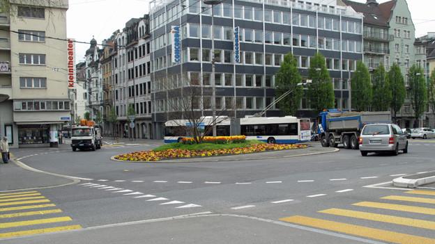 Der Bundesplatz in Luzern soll umgebaut und sicherer werden.
