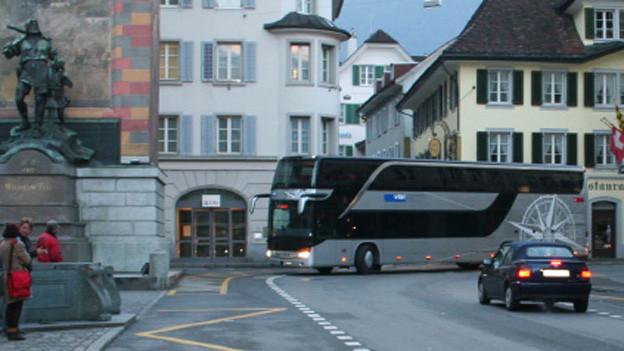 Ein Tellbus der Auto AG Uri wurde von der Luzerner Polizei gestoppt.