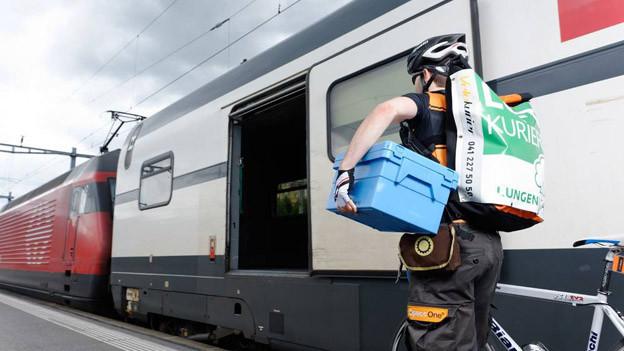 Velokurier Luzern arbeitet vernetzt mit der Bahn