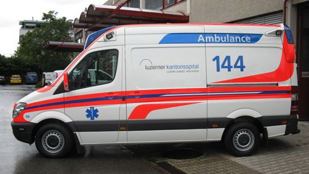 Die Luzerner Rettungssanitäter fuhren 2012 knapp 13'000 Einsätze.