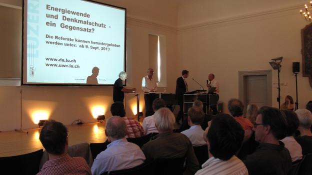 Die Luzerner Denkmalpflege lud zu einer Veranstaltung zum Thema ein.