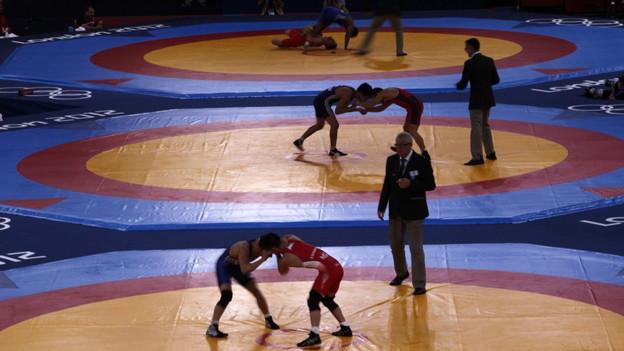 Ringen bleibt olympisch, wie hier an den olympischen Spielen in London.