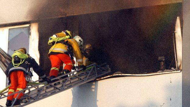 Einsatz der Feuerwehr in Cham im Jahr 2009.