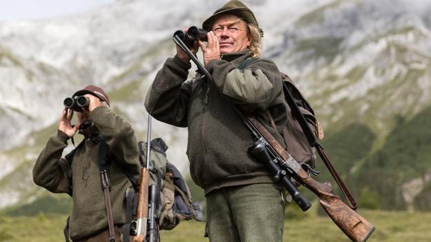 Die Jäger zeigten der Bevölkerung, dass sie nicht nur Tiere töten.
