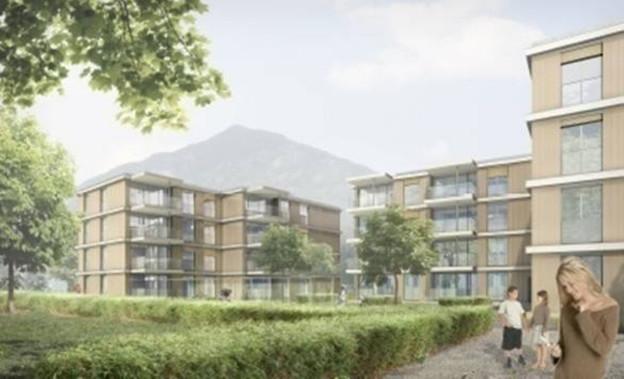 In der Nähe des Bahnhofs in Altdorf entsteht ein neues Wohnquartier