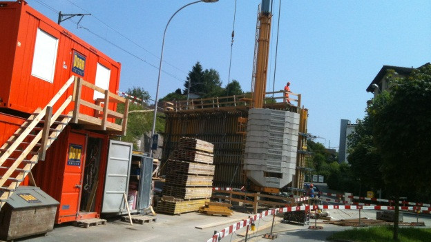 Die SBB-Unterführung an der Talstrasse wird eingeschoben.