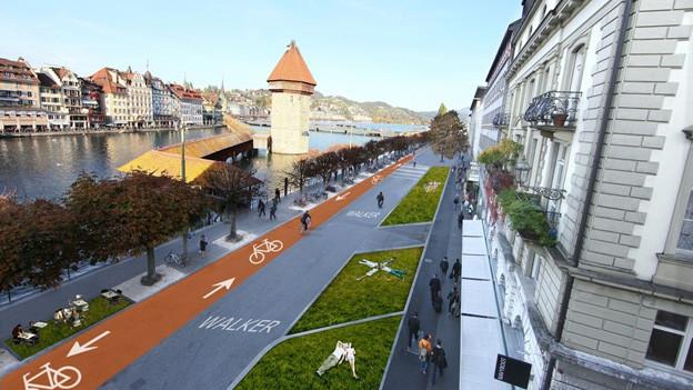 So soll die Bahnhofstrasse umgestaltet werden - dies will die Stadtbevölkerung.