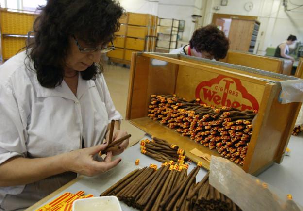 In der Zigarrenfabrik in Pfeffikon werden die «Krummen» noch von Hand geflochten.