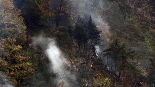 Eines der beiden Todesopfer wurde in diesem Gebiet gefunden.