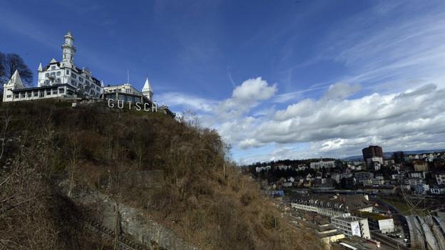 Das Hotel Gütsch in Luzern kann vorläufig nicht erweitert werden.
