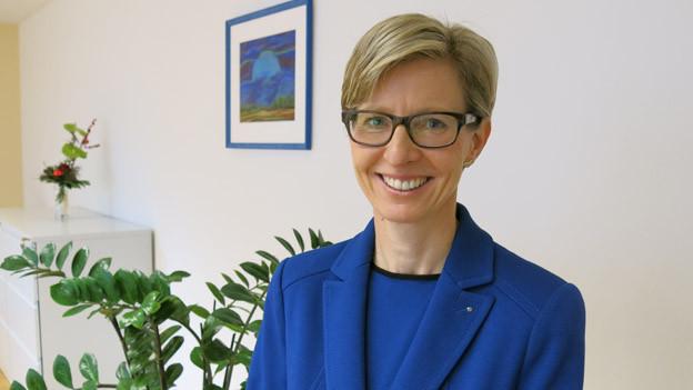 Die neue Luzerner Ombudsfrau Lucia Schnider Stulz in ihrem Büro.