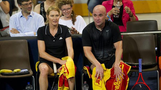 50'000 Franken erhielten Steffi Graf und Andre Agassi am letzten «Stars on Court» in Zug.