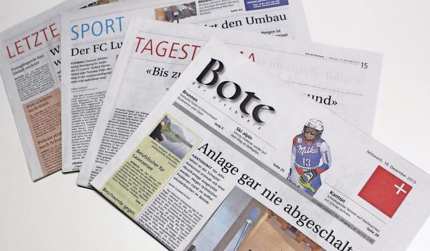 Der Bote der Urschweiz ist jetzt die einzige Schwyzer Tageszeitung.