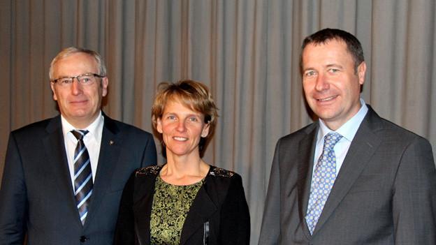Alois Bissig, Karin Kayser und Othmar Filliger erhielten von den rund 160 CVP-Delegierten klare Unterstützung.