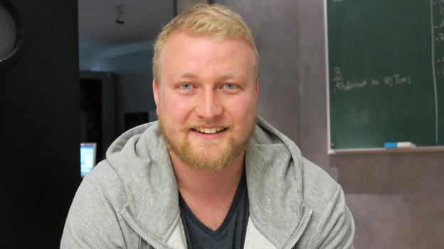 Tobias Käch, der Präsident der Luzerner Jung CVP.