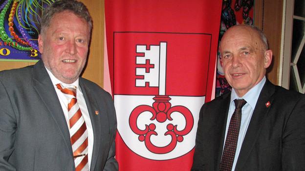 Bundesrat Ueli Maurer zu Besuch bei der SVP Obwalden.