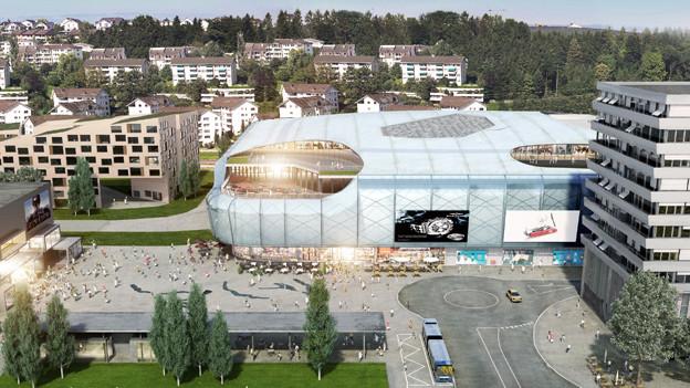 So soll die Mall of Switzerland dereinst aussehen.