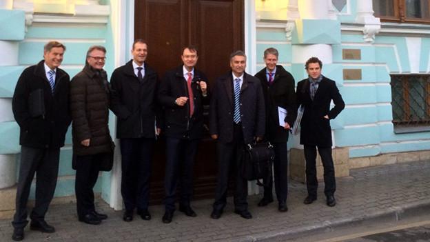 Die Luzerner Delegation in Moskau.