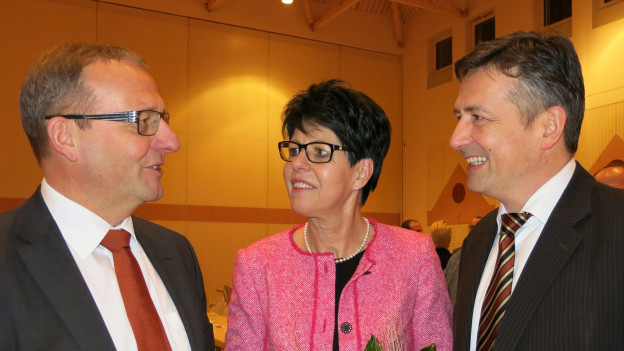 Die drei Kandidaten Alfred Bossard, Yvonne von Deschwanden und Hans Wicki (von links).
