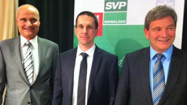 Ueli Amstad, Martin Zimmermann und Res Schmid (von links nach rechts)