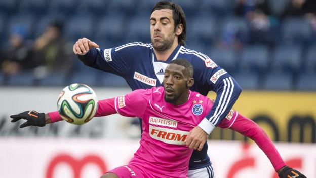 Tomislav Puljic (hinten) kämpft beherzt.