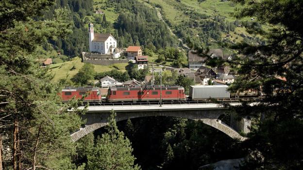 Die SOB will wie die SBB über den Gotthard fahren.