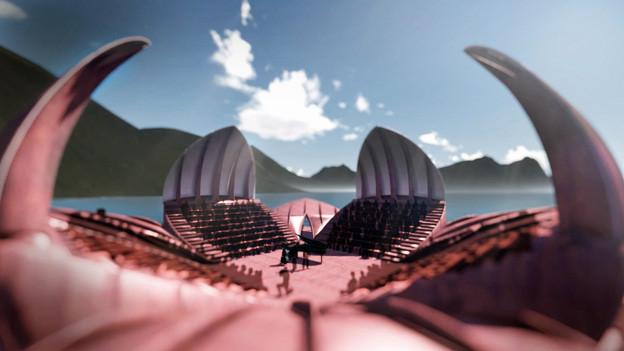 So soll die Seerosen-Bühne aussehen.
