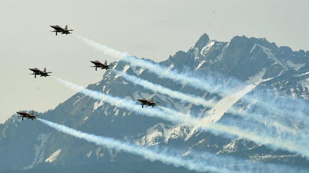 Keine Flugshow der Patrouille Suisse über der Stadt Luzern.