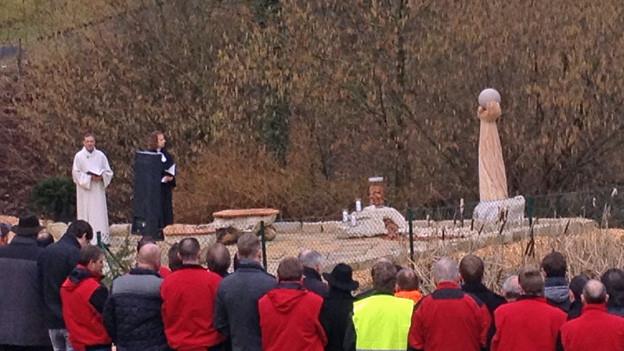 Einweihung der Gedenkstätte in Menznau.