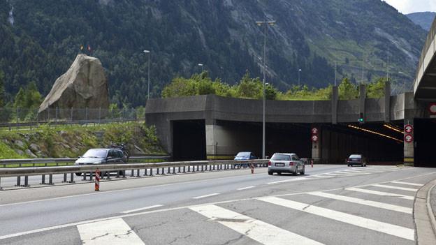 Das Gotthardtunnel-Nordportal: Der Ständerat will eine zweite Röhre.