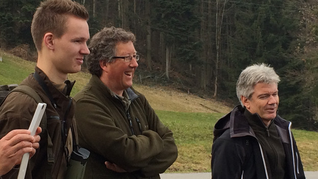 Jäger Peter Faesi auf dem Naturstreifzug