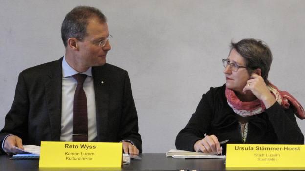 Reto Wyss und Ursula Stämmer zur Kulturförderung von Stadt und Kanton Luzern.