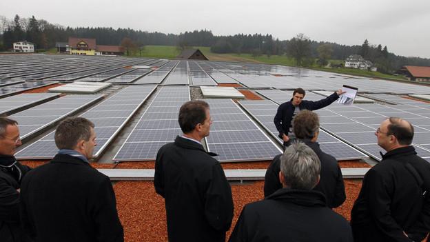 Solaranlage auf Pistor-Gebäude in Rothenburg.