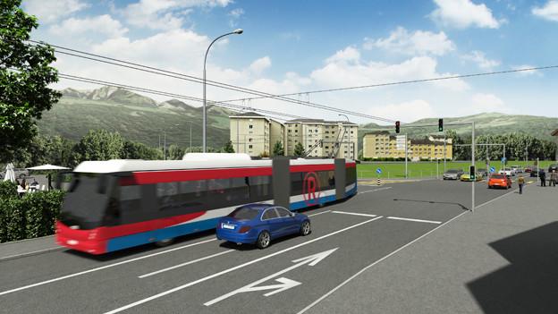 Visualisierung des neuen RBus für Luzern.
