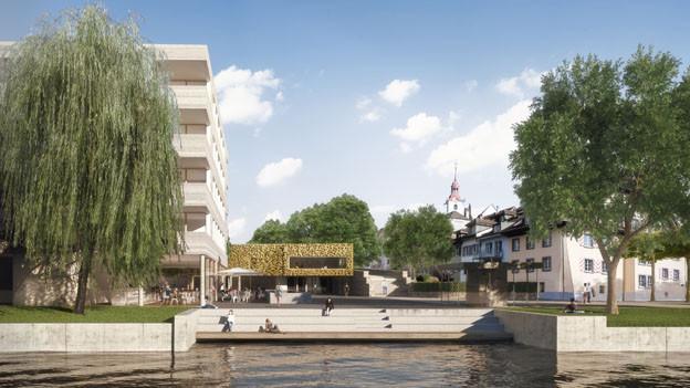 Am neuen Vierherrenplatz soll eine parkähnliche Begegnungszone entstehen