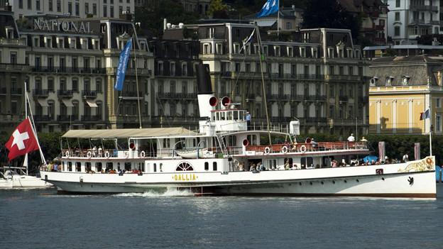 Das Dampfschiff Gallia auf seiner 100-Jahr-Jubiläumsfahrt 2013 in Luzern.