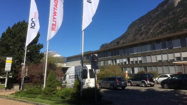 Das Firmengebaude von Dätwyler in Altdorf.