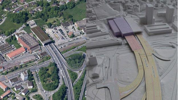 Mit dem Bypass soll die Stadt Luzern vom Verkehr entlastet werden.