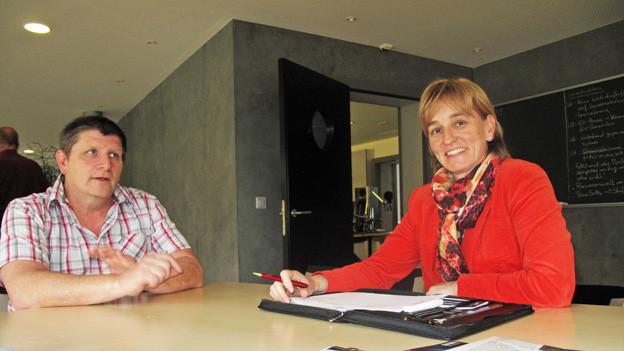 Die beiden Luzerner Politiker Guido Luternauer und Yvonne Hunkeler.