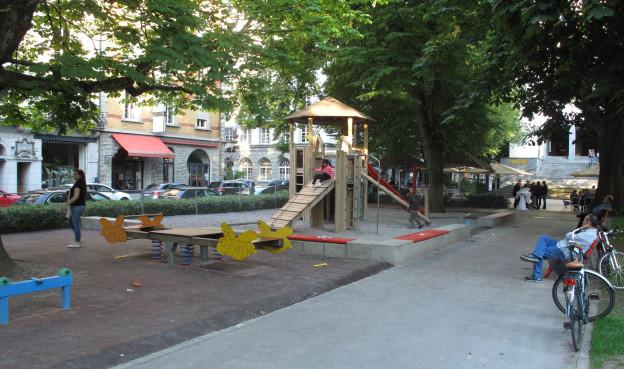 Der Spielplatz im Vögeligärtli ist schon saniert.