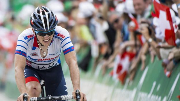 Mathias Frank verpasst den Gesamtsieg an der Tour de Suisse um 33 Sekunden.