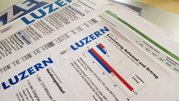 Parteien sind gar nicht einverstanden mit den Sparvorschlägen der Luzerner Regierung