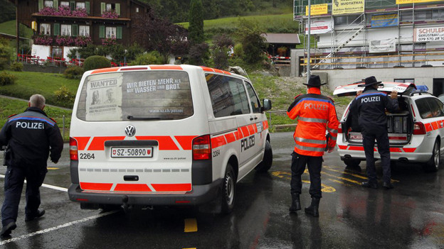 Polizeikontrolle im Kanton Schwyz.