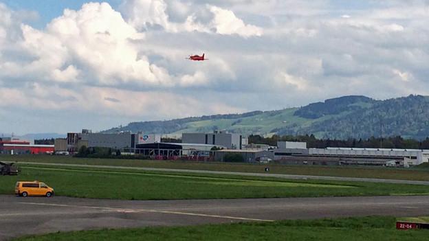 Im August gibt es mehr Flugbewegungen auf dem Flugplatz Emmen.