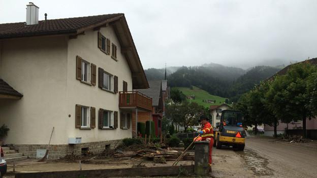 Besonders betroffen von Schäden an Gebäuden war die Gemeinde Schüpfheim